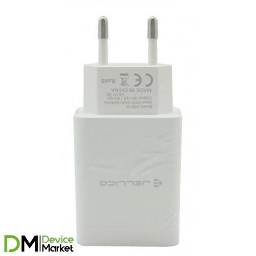 СЗУ Jellico AQC33 1USB QC3.0 + Lightning cable White