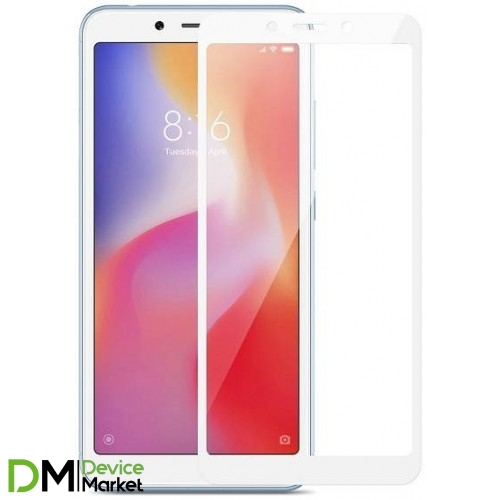 Защитное стекло Xiaomi Redmi 6A White