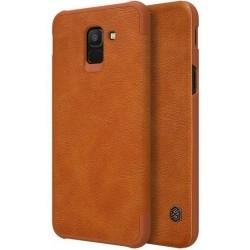 Кожаный чехол (книжка) Nillkin Qin Series для Samsung J600F Galaxy J6 (2018) Brown