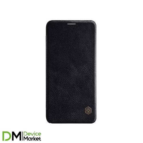 Кожаный чехол (книжка) Nillkin Qin Series для Samsung Galaxy J8 (2018) Black