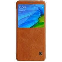 Кожаный чехол (книжка) Nillkin Qin Series для Xiaomi Redmi Note 5 Pro/Note 5 Brown