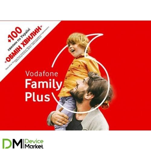 Стартовый пакет Vodafone Unlim 3G Plus Family