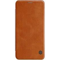 Кожаный чехол (книжка) Nillkin Qin Series для Samsung J810 Brown
