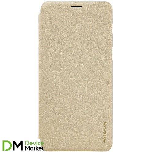 Чехол-книжка Nillkin для Samsung A8/A530 Gold
