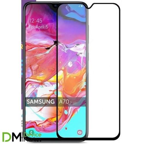 Защитное стекло Samsung A70 A705 Black Matte
