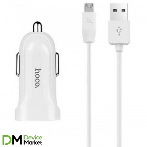 АЗУ Hoco Z2A c Micro USB (2USB, 2.4А) white