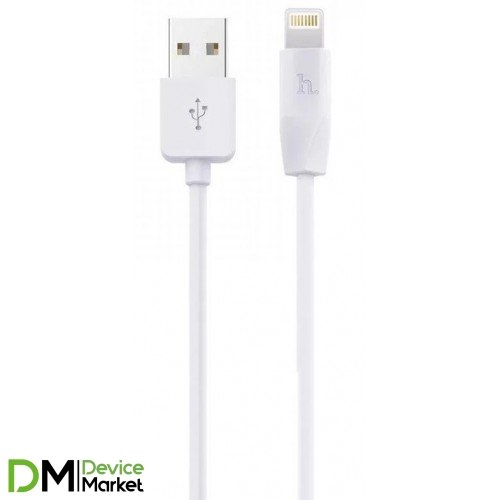 USB кабель Lightning HOCO-X1 1m White