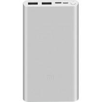 Power bank Xiaomi Mi 3 NEW 10000 mAh Fast Charge Silver PLM13ZM