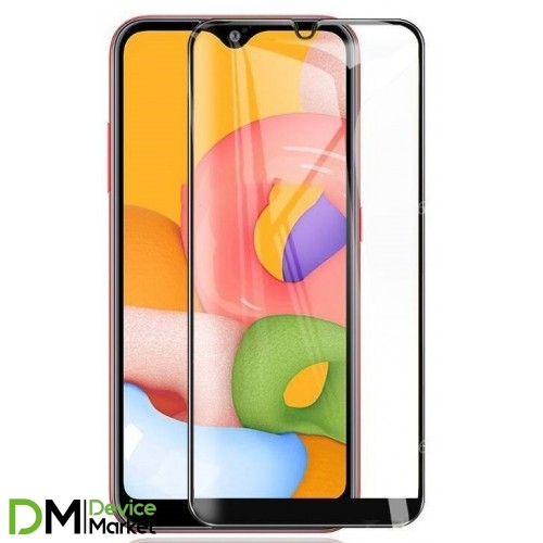Защитное стекло Samsung A01 Black Premium