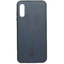 Накладка Leather Magnet Case Samsung A01 (2020) A015F Blue
