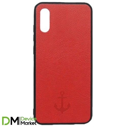 Накладка Leather Magnet Case Samsung A01 (2020) A015F Red