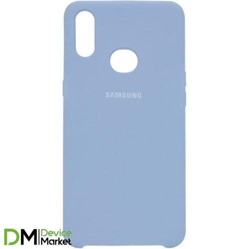Silicone Case Samsung A10S Lilac Blue