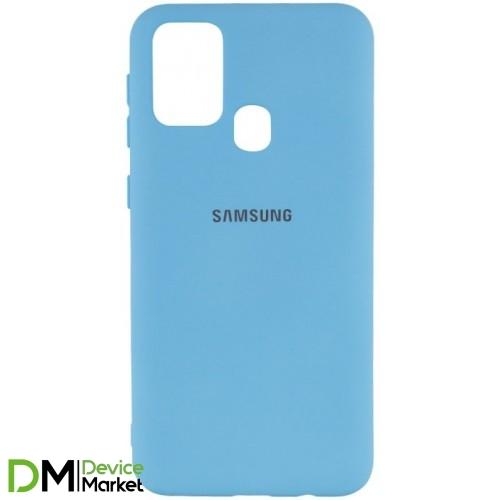 Silicone Case Samsung M31 Light Blue