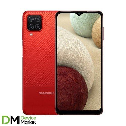 Смартфон Samsung Galaxy A12 4/64Gb Red (SM-A125FZRVSEK) UA