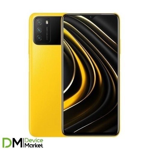 Смартфон Xiaomi Poco M3 4/64GB Poco Yellow Global