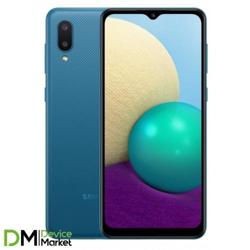 Смартфон Samsung Galaxy A02 32Gb Blue (SM-A022GZBBSEK) UA