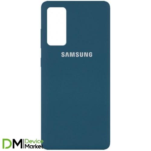 Чехол Silicone Case Samsung A52 Cocmos Blue