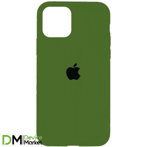 Silicone Case iPhone 12 Pro Army green