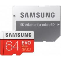 Карта памяти Samsung microSDXC 64GB EVO PLUS (R100, W20MB/s) + ad