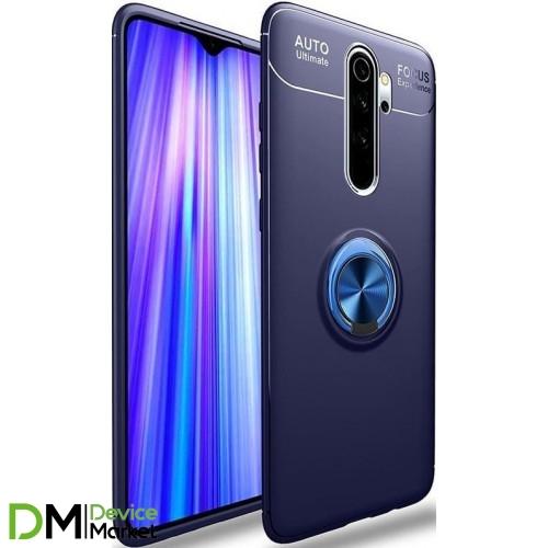 Чехол Deen Color Ring для Xiaomi Redmi Note 8 Pro Blue/Blue