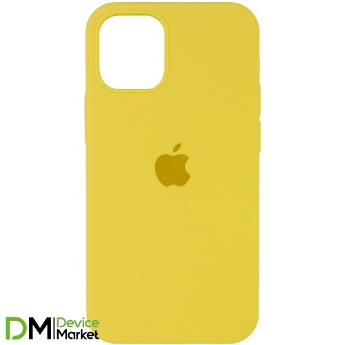 Silicone Case Full Protective для iPhone 12 Pro Yellow