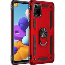 Чехол Serge Ring for Magnet для Xiaomi Redmi K40/K40 Pro/K40 Pro+/Poco F3/Mi 11i Red