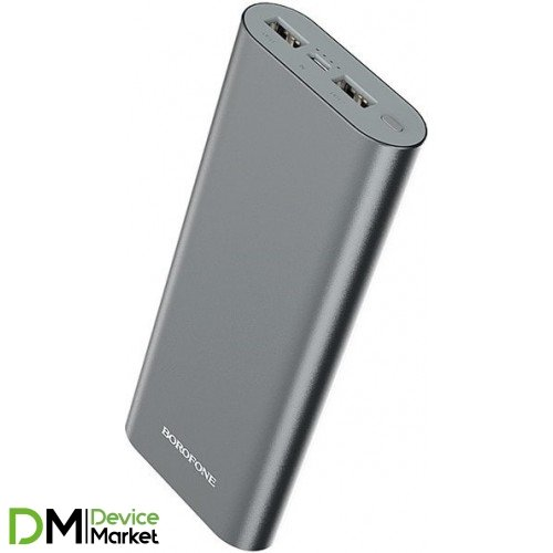 Power Bank Borofone BT19B 20000mAh Metal Gray
