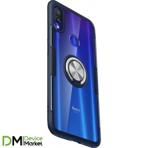 Чехол Deen Crystal Ring for Magnet для Xiaomi Redmi Note 7 бесцветный/Dark Blue