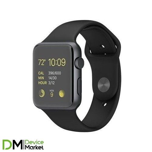 Watch Apple Watch Sport 42mm Space Gray Aluminum Case with Black Sport Band (MJ3T2) CPO