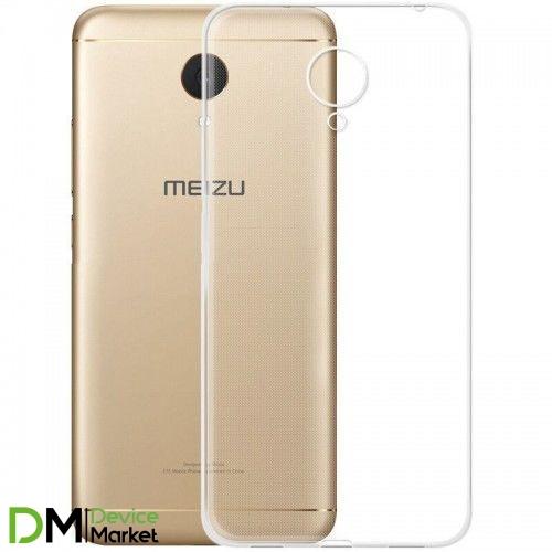 Чехол силиконовый для Meizu M5 note прозрачный