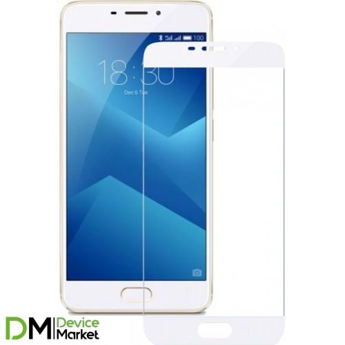 Защитное стекло Full Cover Meizu M5 White