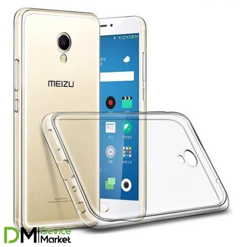 Чехол силиконовый Meizu M3E (прозрачный)
