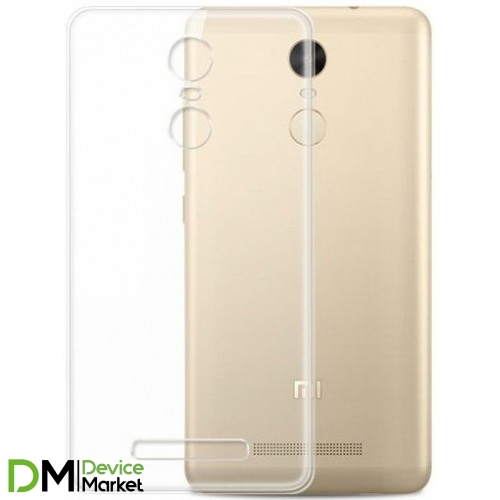 Силиконовый чехол Xiaomi Mi 4s (прозрачный)