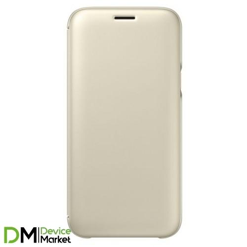 Samsung  J5 (2017) J530 Wallet Cover (Gold)