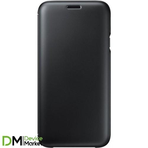 Samsung  J7 (2017) J730 Wallet Cover (Black)