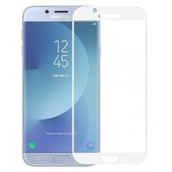 Защитное стекло 3D Samsung J7 2017 J730 White