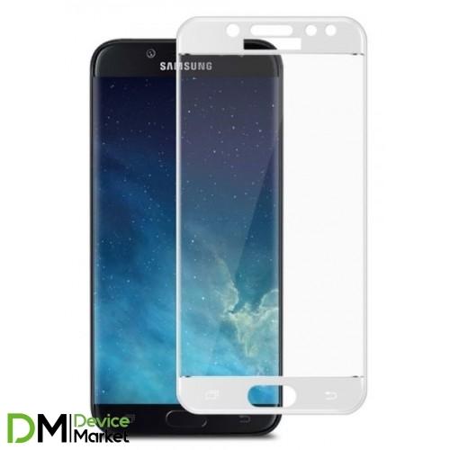 Защитное стекло 3D Samsung J5 2017 J530 White