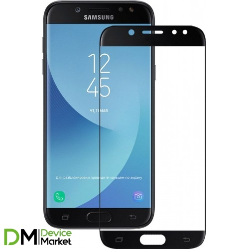 Защитное стекло 3D Samsung J5 2017 J530 Black