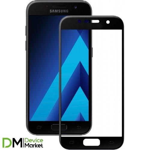 Защитное стекло 3D Samsung A3 2017 (A320) Black