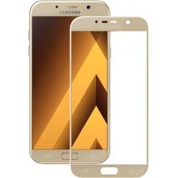 Защитное стекло 3D Samsung A3 2017 (A320) Gold