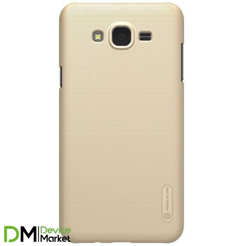 Чехол Nillkin Super Frosted Shield для Samsung Galaxy J7 Neo J701F Gold