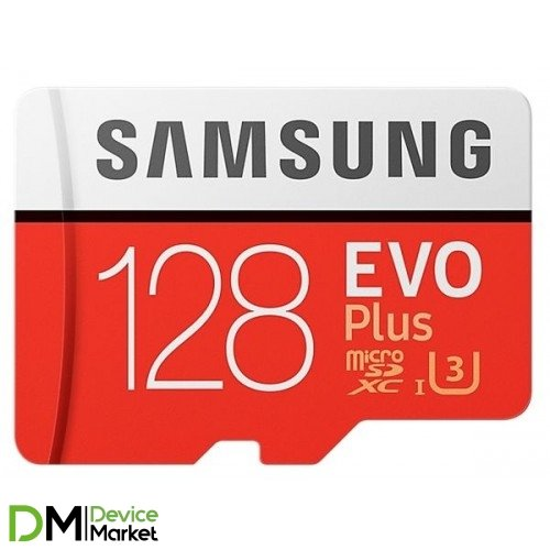 Samsung microSDXC 128GB EVO PLUS UHS-I U3 (R100, W60MB/s)
