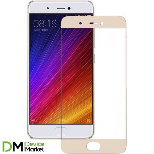 Защитное стекло Xiaomi Mi5S Gold
