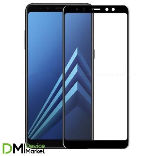 Защитное стекло 3D Samsung A8 2018 (A530) Black
