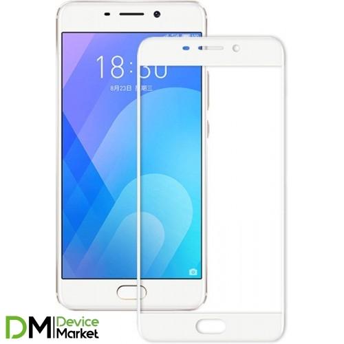 Защитное стекло Meizu M6S 3D White