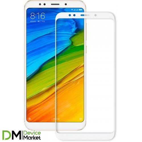 Защитное стекло 3D Xiaomi Redmi 5 Plus White