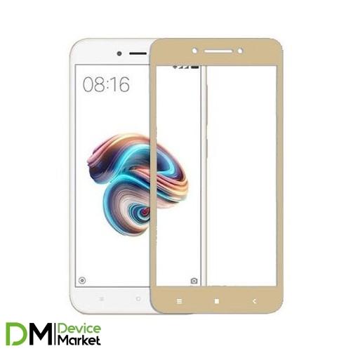 Защитное стекло Xiaomi Redmi 5A Gold