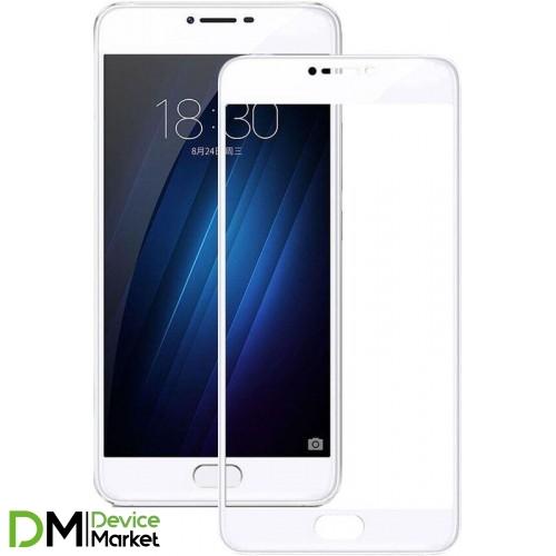 Защитное стекло Full Cover Meizu U20 White