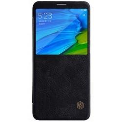Кожаный чехол (книжка) Nillkin Qin Series для Xiaomi Redmi Note 5 Pro / Note 5 Black