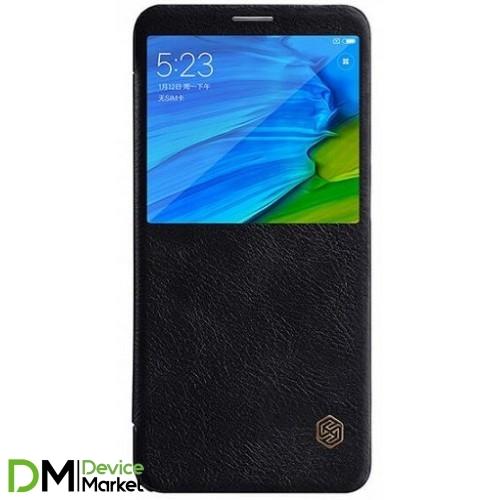 Кожаный чехол (книжка) Nillkin Qin Series для Xiaomi Redmi Note 5 Pro/Note 5 Black